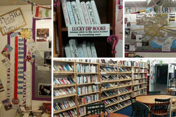 Big Little Library, books, shelves