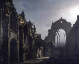 Walker Art Gallery The_Ruins_of_Holyrood_Chapel_(Louis_Daguerre)