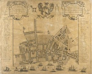 Map of Liverpool showing the Old Dock