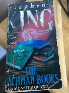 A copy of Stephen King's The Bachman Books, including the story Rage, which is now out-of-print